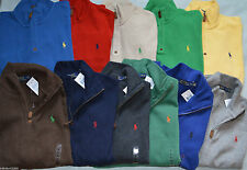 NEW POLO RALPH LAUREN HALF ZIP FRENCH RIB SWEATER S M L XL 2XL FALL COLORS 2014