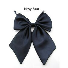 New Womens Girls Fashion Party Banquet Solid Color Adjustable Bow Tie Necktie