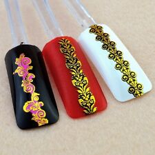 High quality Candy Color 3D Nail Art Sticker Decal For Nail Tips Decoration Tool