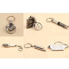 New Turbo Exhaust Piston Auto Racing Tuning Parts Keychain Ring Keyfob Keyholder