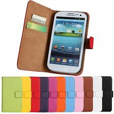 Flip Magnetic Leather Slot Wallet Card Case Cover stand For Samsung + Stylus