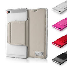 S-CH For HUAWEI & HTC ONE Stand Wallet Card Pouch PU Leather Flip Case Cover