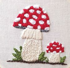 Mushroom hand Embroidery Download PDF Embroidery Pattern Print At Home