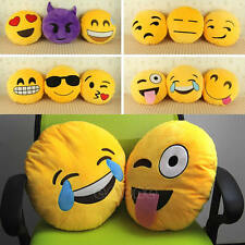 Soft Round Cushion Pillow Yellow Emoji Smiley Emoticon Stuffed Plush Toy Doll