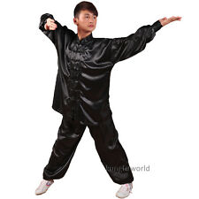 Silk Satin Tai chi Uniforms Wushu Martial arts Taiji Kung fu Suit 8 Colors