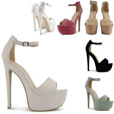 NEW GORGEOUS LADIES PLATFORM OPEN TOE SANDALS WOMENS CLUBBING GOING OUT SHOES UK