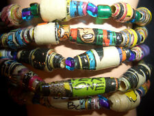Kids Comic Book Party Pack of Paper Bead Stretch Bracelets