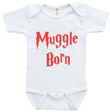 Muggle Born Harry Potter Style Baby Clothes Infant Bodysuit Jumper Shower Gift