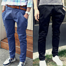 Skinny Men's Harem Casual Pants Slim Sports Trousers Male Leisure Clothing