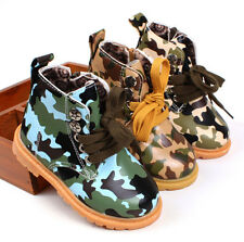 Baby Shoes Childern's Boy girl Camouflage Martin Boots Snow Synthetic Leather
