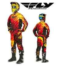 FLY RACING 2015 MX KINETIC GLITCH RED RIDING JERSEY PANT GLOVE COMBO MOTOCROSS