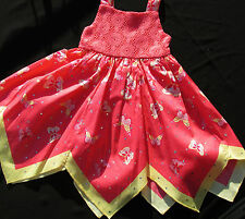 Baby Girl Dress Route 66 12 Month 18 Month 100% Cotton Sparkly Multi-Color A19