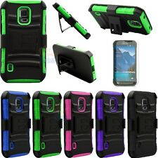 For Samsung Galaxy S5 Active G870 Armor Shockproof Stand Hard Case Cover Holster