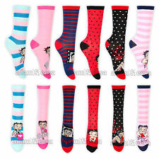 Womens Betty Boop Character Socks Size 4-7 1 Pair or Lot of 4 Pairs Assorted