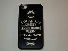 PERSONALIZED cell phone case fits: APPLE iPhone 4 & 4S, UNION, UNION TRADE,L@@K!