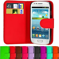Wallet PU Leather Case Cover w/ ID Pocket For Samsung Galaxy Ace S2 S3 S4 Mini