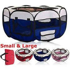 Fabric Pet Play Pen Dog Cat Rabbit Puppy Playpen Run Cage Tent Fence Enclosures