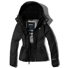 Abercrombie & Fitch A&F All-Season Womens Weather Warrior Jacket Navy Grey NWT