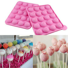 Cake Cookie Chocolate Silicone Lollipop Pop Mold Mould Baking 20Slots Tray Party