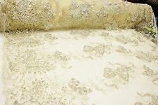 Butterfly Style Embroidery Fabric with Sequin on polyester mesh, 2 colors