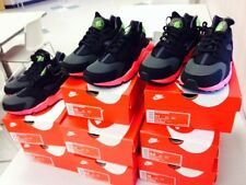NIKE AIR HUARACHE BLACK  HYPERPUNCH  PINK YEEZY Green HYPER PUNCH  UK 7-11 QS