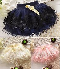 Baby Girls Tutu Mini Skirt Summer Sundress Tutus Dress Kids Layered Short Skirt