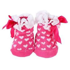 Infant Baby Girl Cotton Bow Ankle Socks Lace Floral Low Cut Socks 3D Shoes 0-1Y