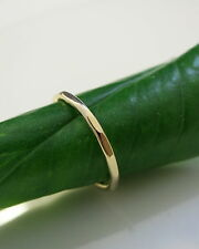 Gold Filled Stack Ring 14 Gauge hammered stackable ring minimalist Jewelry