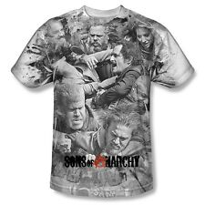 SONS OF ANARCHY BRAWL SUBLIMATION FRONT PRINT ONLY T SHIRT S M LG XL 2XL 3XL