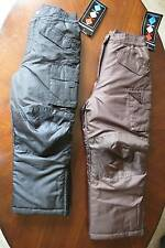 New Boys or Girls Brown or Black Snow Pants Size 4