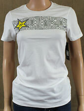 One Industries Rockstar Caia Graphic T-Shirt Womens White Crew Tee Shirt New NWT