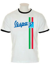 VESPA STRIPE T SHIRT PIAGGIO SCOOTER LAMBRETTA MODS RALLY GS PX SCOOTERBOYS