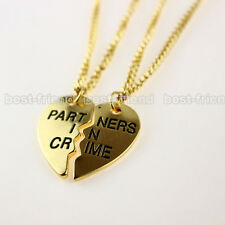 Celebrity Best Friends Partners in Crime Letters Statement  Necklace Chain Set