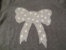 NWT Juicy Couture Heather Prestige Gray Knit Girls Bow Sweater Dress Size XLarge