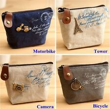 Women Lady Design Coin Bag Purse Wallet Card Case Vogue Handbag Classic Canvas