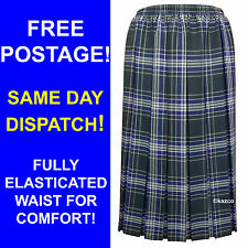 Purple & Brown Tartan Pleated Skirt For The Older Women. Ladies New Check Skirts