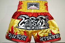 "LUMPINEE Muay-Thai Boxing Shorts LUM-12 ""FLIME"" yellow  Kick-Boxing"
