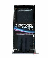 Isotoner Women's Gloves Black SmarTouch Touchscreen Compatible Boxed $50