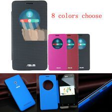 Ultra-Thin Slim Quick Circle Window Flip Leather Case Cover For ASUS ZenFone 5 6