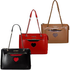 Women Handbag + Case Black Green Red LOVE MOSCHINO bag with Heart  A/W 2014