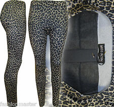 WOMENS NEW LADIES ANIMAL LEOPARD PRINT THERMAL HIGH WAISTED LEGGINGS TIGHTS PANT