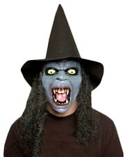 Witch Mask Scream Hat and Wig Halloween Fancy Dress Party Prop Eyes Teeth