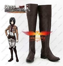 Unisex Attack on Titan Cosplay Anime Shingeki no Kyojin Eren Jaeger Shoes Boots