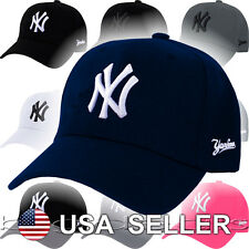 New York Yankees Cap Velcro MLB NY Logo Hat Embroidered Twill Six Panel 6 NYC