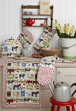 ON THE FARM Oven Glove, Apron, Tea Cosy, Placemats, Coasters or Tea Towel