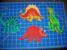 Fabric Iron-on Appliques - Dinosaurs - 4 designs in 3 different sizes