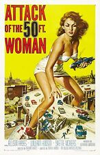 ATTACK OF THE 50 Foot Woman Movie Poster Horror Sci-Fi Monsters