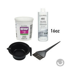 CLAIROL BW2 Powder Lightener 8oz + Creme Developer 20V 16oz+ Bowl + Brush