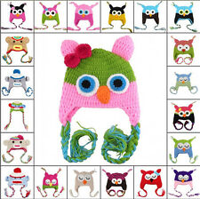 27 Colors Baby Owl Hat 6 Month-3 Years Handmade Hat Wool Knit Crochet Beanie Cap