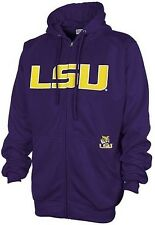 LSU Tigers Majestic NCAA Delay Get Up Full Zip Purple Hoodie Big And Tall Sizes
